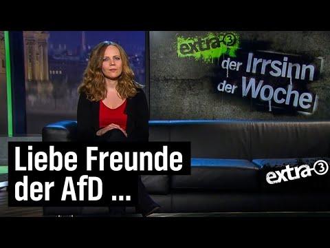 Sarah Bosetti beantwortet AfD-Posts | extra 3 | NDR